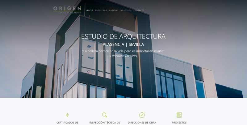 Web de Origen Arquitectos