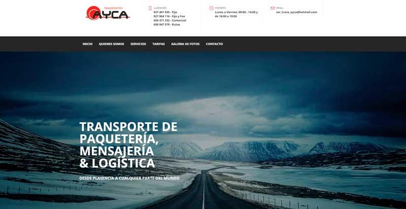 Web de Transportes Ayca