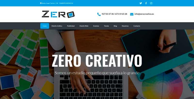 Web de Zero Creativo